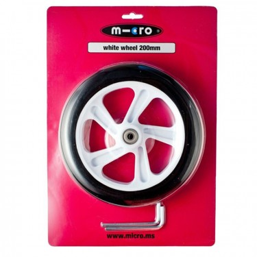 Micro Wheel 200 mm White