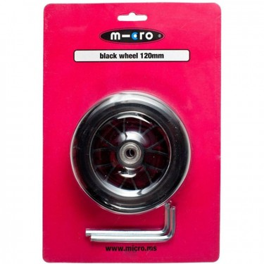 Micro wheel black for maxi 120mm - AC5006B