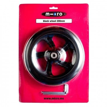 Micro Wheel 200 mm Black